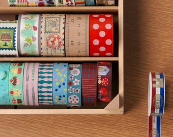 Washi Tape Maple Wood Case / Masking Tape Organizer / Tape Holder