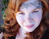 Bridal Elvish Circlet Headpiece OOAK Silver Tone Wire Elven Crown - Great for Princess, Queen, or Goddess Costume