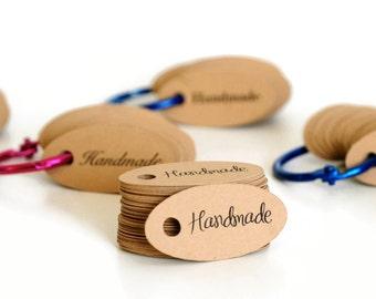 Mini Hang Tags / Gift Tags / Wedding Favor Tags / Kraft Tags