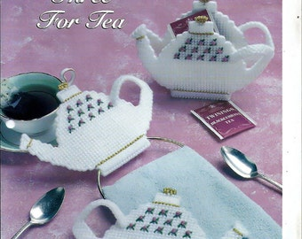 Three For Tea Plastic Canvas Collector's Series Pattern The Needlecraft Shop 994014