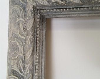 Large Ornate Vintage Wood Frame Hand Painted, Aged And Distressed, Wood Frame, Large Frame