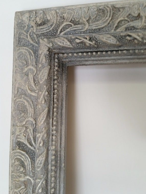 Large Ornate Vintage Wood Frame Hand Painted, Aged And Distressed, Wood Frame, Large Frame