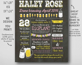 coed baby shower poster pregnancy sign girl baby shower chalkboard to match invitation