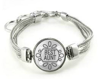 Aunt Bracelet - Gift For Aunt - Jewelry For Aunt - Bracelet For Aunt - Aunt - Aunt Charm Bracelet