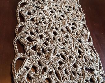 Crochet Table Runner Crochet Centerpiece Large Doilies 100% Cotton Housewarming Gift Mother'sDay Wedding Gift Modern Crochet
