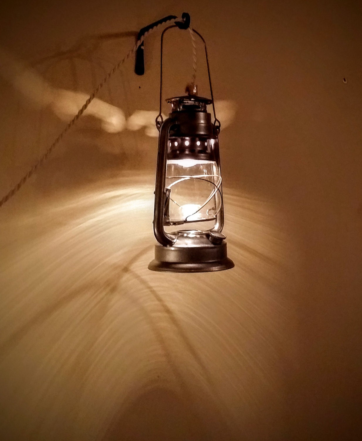 Large Pendant Lantern Lamp Plug-in Style by RecycledRevival