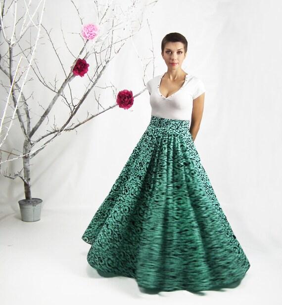 High waisted circle skirt pattern