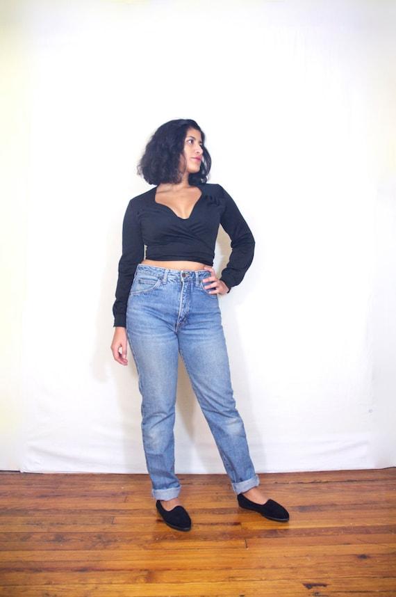 hoch taillierte jeans edwin 1980er jahre 80er 90er jahre. Black Bedroom Furniture Sets. Home Design Ideas