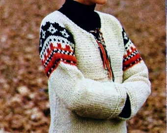 Bulky-Knit Tunic Vintage Knitting Pattern Download