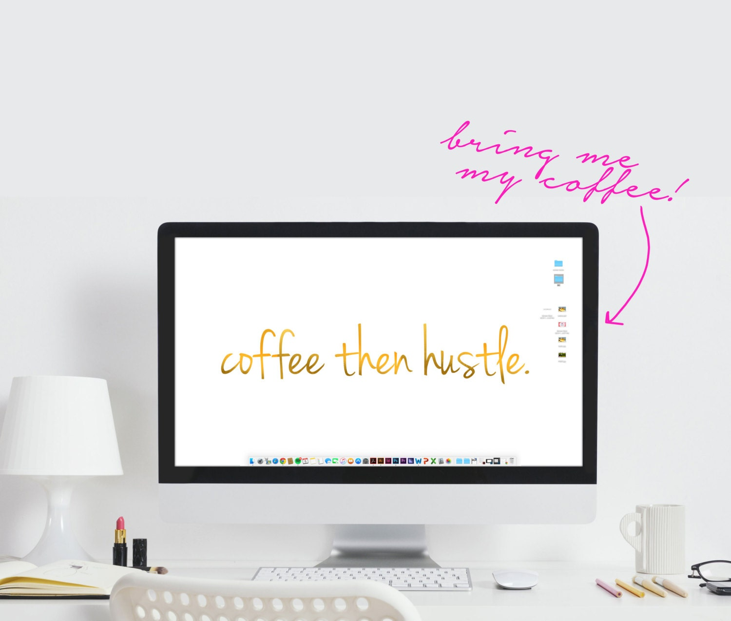 Computer Wallpaper Quotes: Hustle Computer Wallpaper Coffee Then Hustle Quote