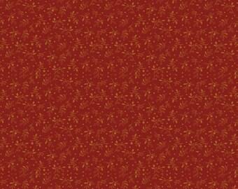 Rust Civil War Fabric, Penny Rose Meadow C4495 Red, Erin Turner, Victorian Era Fabric, Civil War Reproduction Quilt Fabric, Cotton