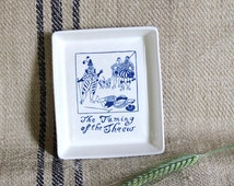 1964 The TAMING of the SHREW trinket dish SHAKESPEARE Exhibition Holkham Pottery Ltd. England