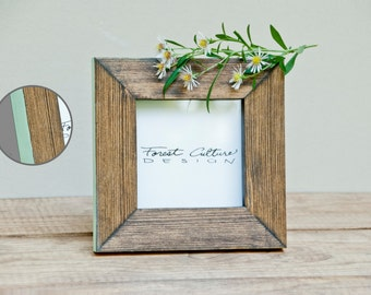 4x4 Picture Frame | Wood Picture Frame | Colored Edge -More colors available-