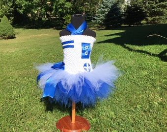 LDTutus Star Wars R2D2, BB8 or R2Q5 Inspired Lined Tutu Costume Dress- FREE Personalization