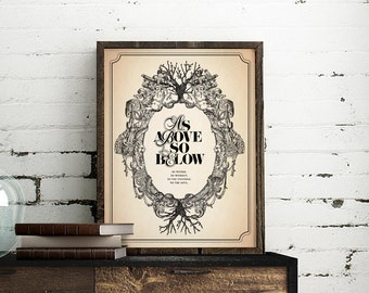 As Above So Below, Poster, print, wall decor, 8.5 x 11 in, 12 x 16 in