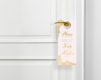 Wedding Hotel Door Hangers - Do Not Disturb Sign - Wedding Decor