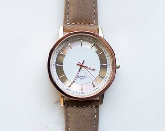 Brown Minimalist Watch, Minimalist Watch, Unisex Watch, Women Watches, Womens Watches, Women's Watch, Womens Watch, Fashion Watch