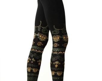 Warrior leggings-Yoga Leggings-Festival Clothing-Psychedelic Leggings-Tribal Leggings-African-Print Leggings-Festival Leggings-Trance-Celtic