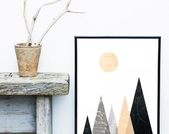 Scandinavian Print, Printable Art,  Mid Century,  Minimalist Art, Modern Wall Art, Wall Decor, Digital Download