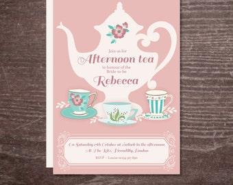 afternoon tea invite | etsy, Einladungen