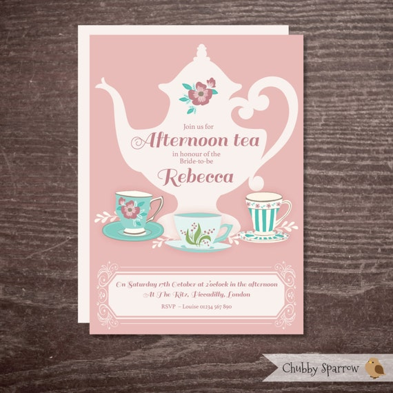 Afternoon Tea Hen Party Ideas: Bridal Shower Invitation Hen Party Afternoon Tea Alice In