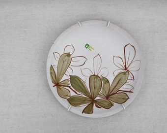 Painting Wall plate Hanging wall decor Hand painted plate Flower shapes plate Country cottage Decorative plate Decorative dish Signed plates