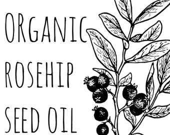 Organic Rosehip Oil | Organic Rosehip Seed Oil | Cold Pressed Rose Hip Seed Oil | Pure Rose Oil | Oily Skin Moisturizer | Anti Aging