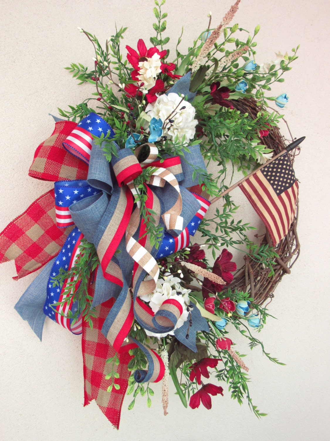 July 4th Wreath Fourth Of July Wreath Summer Wreaths