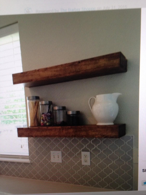Floating shelves reclaimed wood by azdesertwood