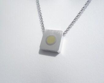 Modern Titanium Brass Necklace – Modern Contemporary Jewelry – Industrial Jewelry