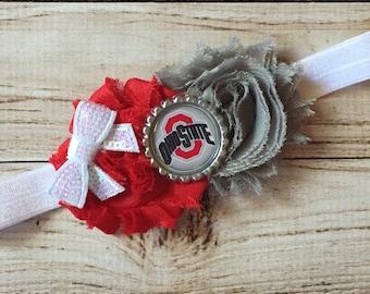 Ohio State Buckeyes inspired headband