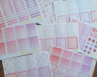 Complete Set- Watercolor Hearts Collection Erin Condren planner stickers!