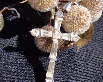 Stunning Unique Vintage Cross Pendant Necklace Charm Unique Beautiful Cross Necklace
