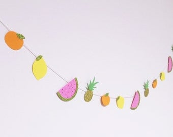 Fruit Salad mini paper garland