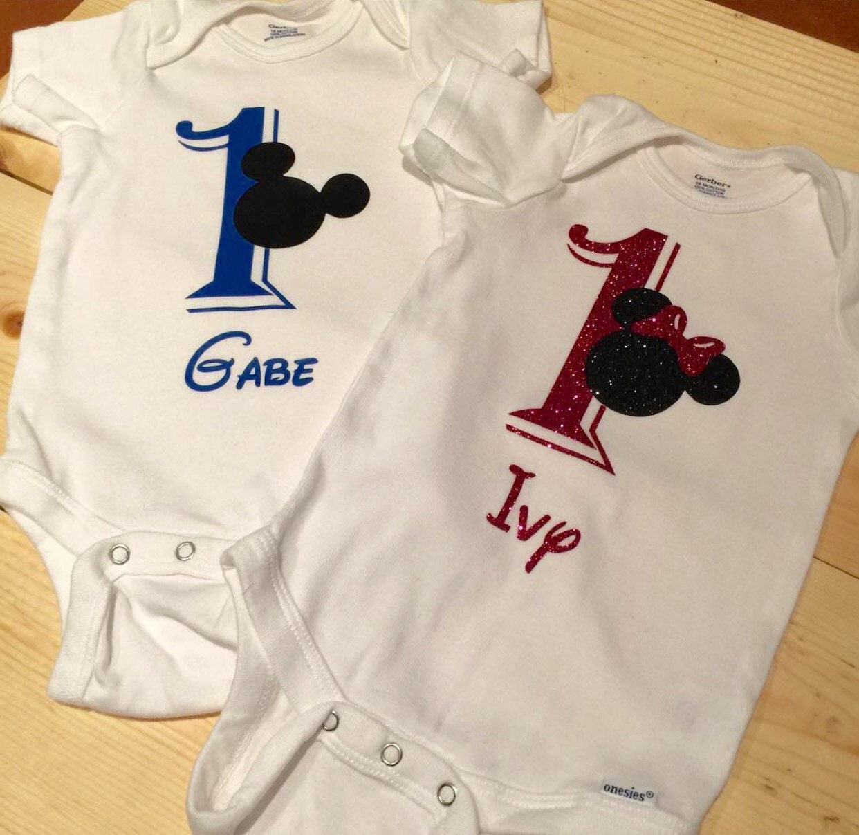 Mickey Inspired 1st Birthday Shirt Source First Etsy Angletsurfphoto Info