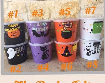 Personalized Halloween Buckets w/ Lid