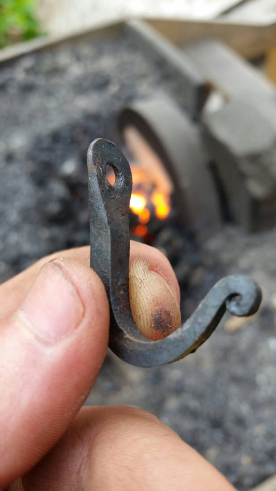 Hand Forged Miniature Wall Hook By Tbsmithy On Etsy