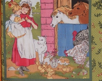 Children's Cloth Book/Once Upon a Farm Cloth Book/Animal Book/Children's Fabric Book/Quiet Book