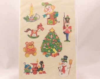 Vintage 1980 Current Holiday Stickers. 4 Sealed Sticker Sheets