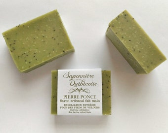 Savon Pierre-Ponce, Savon artisanal fait main 100% naturel, Pumice Soap, Cold process All Natural Handmade Soap