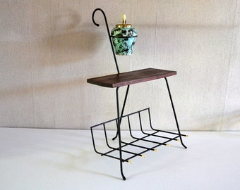Vintage ashtray stand / Vintage Magazine Rack / Newspaper holder 60s