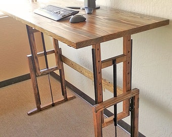 Adjustable Hardwood Standing Desk