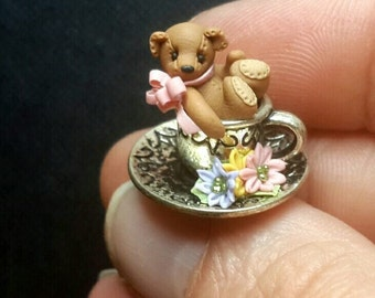 Bear in teacup