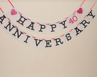 Happy Anniversary banner,  Anniversary,  Happy Anniversary, Anniversary Signs, Anniversary Banner, Anniversary Party Decoration