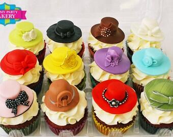Fashion Hat Cupcake Toppers (1 Dozen)