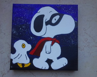Snoopy and Woodstock Painting (Halloween)