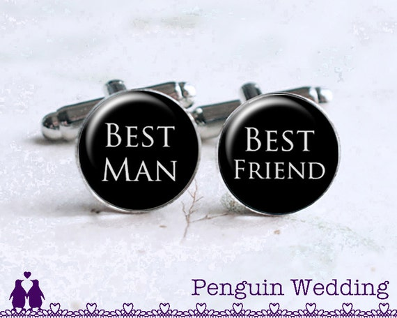 Wedding Gift To Groom From Friend : Best Man Groom Cufflinks, Best Friend Gift, Groom Gift, Wedding Gift ...