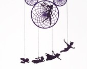 Peter Pan, Tinkerbell, Neverland pirates, Mickey Mouse, dreamcatcher, mobile, neverland crew, disney theme, pixie dust