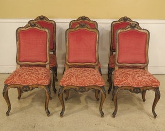 40213E:  Set Of 6 KARGES French Carved Dining Room Chairs