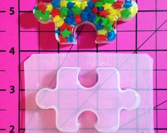 ON SALE Puzzle piece flexible plastic resin mold